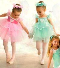Sweethearts Dance Costume MINT Ruffled Baby Doll Ballet Tutu Dress Child X-Large