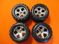 Traxxas Stampede 2wd Front Rear Talon Tires  2.8 Chrome Wheels Rustler XL-5 VXL