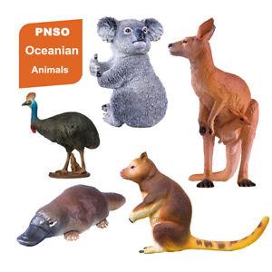 PNSO Kangaroo Koala Platypus Figure 5Pcs/Set Oceanian Animals Model Toy Kid Gift