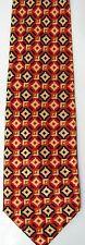 STEFANO RICCI Luxury Red Orange Blue Medallion Tile Men's Silk Tie Neckwear