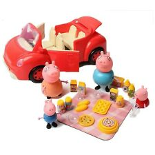 Peppa Pig Picnic Car figures Xmas Gift Kid Toy Children Characters Christmas