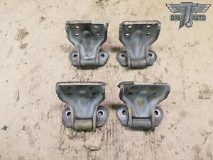 87-89 NISSAN Z31 300ZX SET OF 4 LEFT & RIGHT UPPER & LOWER DOOR HINGE OEM