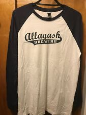 Allagash Brewing Portland Maine Beer Men's Xl ~ Rare Baseball Long Slv Shirt