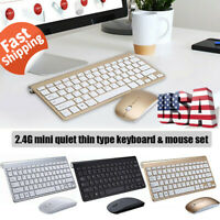 2.4G Mini Wireless Keyboard and Mouse Combo Computer Desktop PC Laptop Cordless