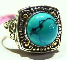 Samuel B Behnam BJC Natural Stone 18K Gold Vintage Sterling Silver 925 Ring Deco
