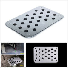 Car Vehicles Silver Color Aluminum Floor Mat Carpet Heel Plate Pedal 300*200*4mm