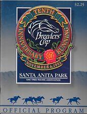 Tenth Anniversary Running Breeders Cup Santa Anita Park 11 / 06 /1993