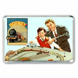 RETRO HORNBY DUBLO CATALOGUE ADVERT JUMBO FRIDGE /LOCKER MAGNET