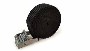 2 Buckled Straps 25mm Cam Buckle 1.5 meters Long Heavy Duty Load Securing