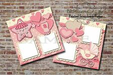 Baby Girl Shower Pink 2 PRINTED Premade Scrapbook Pages BLJgraves 46