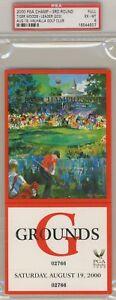2000 PGA Full Saturday Ticket Tiger Woods Wins PSA 6 Ex - Mt    Win #22