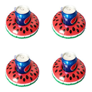 4Pcs Custom Float Cup Holder Inflatable Coasters Watermelon for Swimming Pool