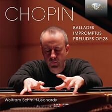 WOLFRAM SCHMITT-LEONARDY -BALLADES-IMPROMPTUS-PRELUDES 2 CD NEW+ CHOPIN,FREDERIC