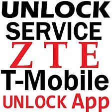 T-Mobile USA ZTE Avid Plus Z828 Obsidian Z820 Zinger  Unlock App Service Code