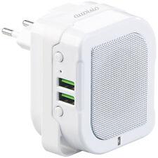 auvisio 2in1-Steckdosen-Lautsprecher & Powerbank, Bluetooth, Freisprecher,6W
