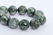 """11MM Genuine Natural Seraphinite Beads Grade AAA Round Gemstone Loose Beads 8"""""""