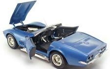 1970 Vette Corvette Chevy Sport Race Car Vintage 1 18 Metal 24 Carousel Blue 12