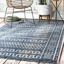 nuLOOM Outdoor Tribal Cora Area Rug in Blue