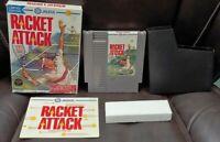 Racket Attack Tennis - NES Nintendo Game Original BOX Complete Manual Dust Cover