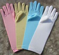 Girl Children Kids Party Fancy Dance Costume Opera medium Long Gloves 4-8 Year