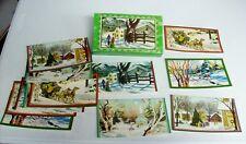 Vintage Christmas Cards Unused in Box - Guard Winter Snow Scene