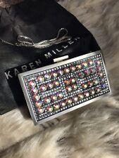 3874bb0f02 Karen Millen Diamante Silver Black Evening Clutch Bag RRP £235