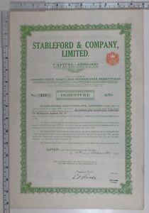 1923 Antik Teilen Zertifikat Stableford & Company Limitierte