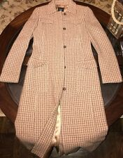 J Crew Womens 100% Wool Long Coat Size 2 Made In Hungary