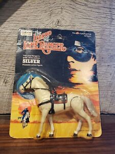 Silver Lone Ranges Horse Gabriel Legend of the Lone Ranger Wrinkled Card