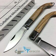 COLTELLO PUGLIESE OLIVO T.INOX ARTIGIANALE FRARACCIO MADE IN ITALY FOLDING 17 cm
