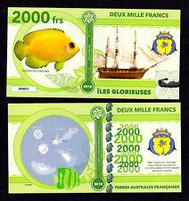 ILES GLORIEUSES ● TAAF / COLONIE ● BILLET POLYMER 2000 FRANCS ★ N.SERIE 000003