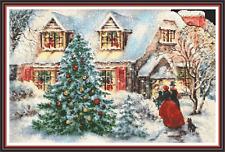 "'CHRISTMAS VISIT' Cross stitch pattern (20""x13"") Xmas/Detailed/Victorian NEW"