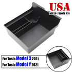 Glove Coin Tray Phone Holder Storage Box Container Armrest For Tesla Model 3 Y