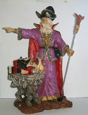 Zauberer Drachenzauberer Magier 35cm Drachenstab Polyresin 35x20x14cm