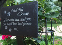 1st 4 Signs- Hand Made Slate memorial plaques - Beautiful Pet Grave Markers