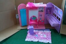 Barbie doll fold out Royal BATH & BED Bedroom Playset  Princess and the Popstar