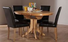Oak Living Room Round Contemporary Table & Chair Sets