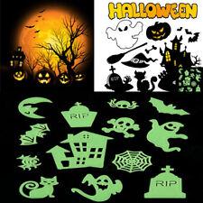 Glow in the dark 3D Halloween Wall Sticker Funny Scary Ghost Pumpkin DIY Decor