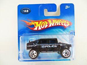 HOTWHEELS 'POLICE HUMMER HUMVEE'. BLACK. 148. 2005. MIB/BOXED/SHORT CARD.