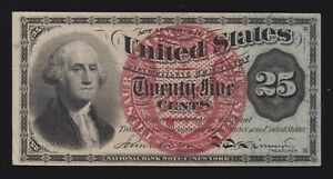 US 25c Fractional Currency 4th Issue FR 1303 Ch CU (-004)