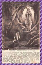Carte Postale - Lourdes apparition de la vierge