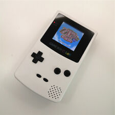Pure White Refurbished Game Boy Color GBC Console With Highlight Back Light LCD