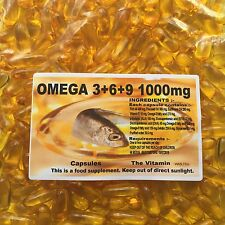OMEGA 3+6+9 Flaxseed Oil 1000mg ~ 180 Capsules (1 or 2 per day)