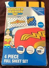 Wonder Woman Logo 4 piece Full Sheet Set Microfiber