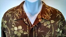 Tommy Bahama XL Hawaiian Style Silk Shirt Bamboo. Perfect For Summer Time Fun