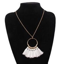 Tassel Necklace Women Fashion Jewelry Chain Silk Fabric Boho Choker