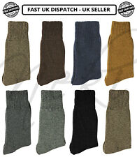 Mens Merino Wool Winter Socks, 1-3-6 Pack Outdoor Walking Work Boot Socks 6-11