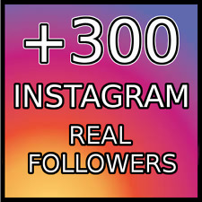 300 REAL FOLLOWERS |BEST QUALITY|