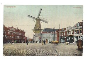 Vintage postcard Rotterdam - Oostpoort, Netherlands.  pmk Hamilton Ont, 1908