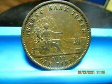 Canada - 1852 - Quebec Bank Penny Token - XF - BR-528                (Z-12)